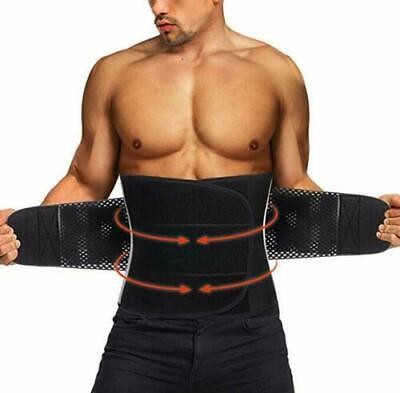 Men&Women Sweat Waist Trainer Back Support Fat Burner Shapewear Cinchers Belt US