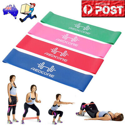 4/8X Resistance Bands for Exercise Men and Women Legs Arms Booty Yoga Physio AU