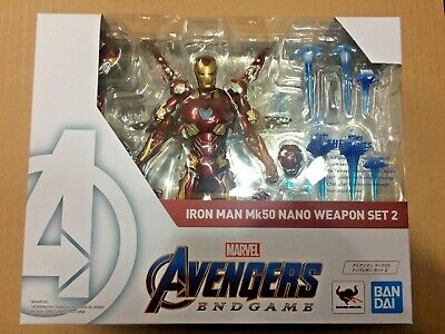 IN HAND! S.H.Figuarts Iron Man Mark 50 Nano Weapon Set 2 Avengers END GAME USA
