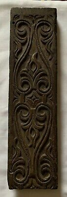 17th Century Carved Rail / Fragment / Strapwork