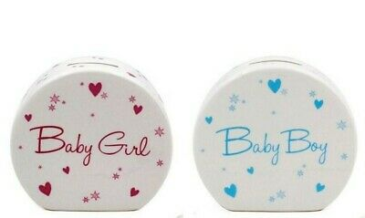 Money Box Gift For Baby Boy Or Baby Girl - Choose Colour **New**