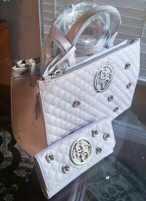 GUESS G LUX STATUS SATCHEL PYTHON BAG METAL 4G LOGO new with