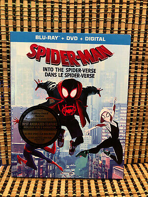 Spider-Man: Into the Spider-Verse (1-Disc Blu-ray, 2019)+Slipcover.Marvel