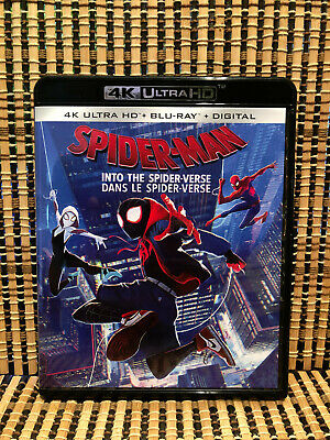 Spider-Man: Into the Spider-Verse 4K (1-Disc Blu-ray, 2019)Marvel/Animated