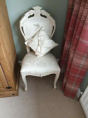Shabby Chic Classic Ivory Louis Style Occasional Chair