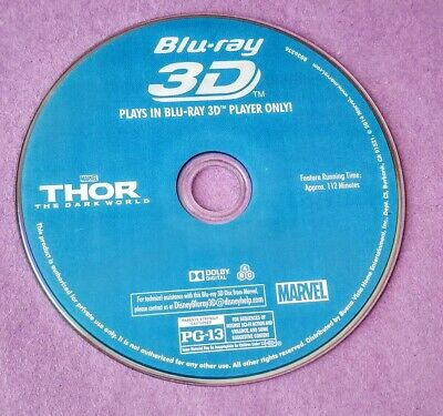 Thor The Dark World 2013 3D/Blu-Ray Disc Only