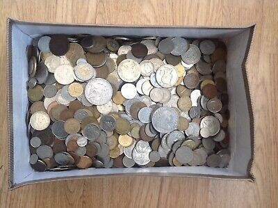 6Kg (6 Kilos) Of World-British-Foreign-Uk Coins (Found In Loft) Unsorted No/Rese