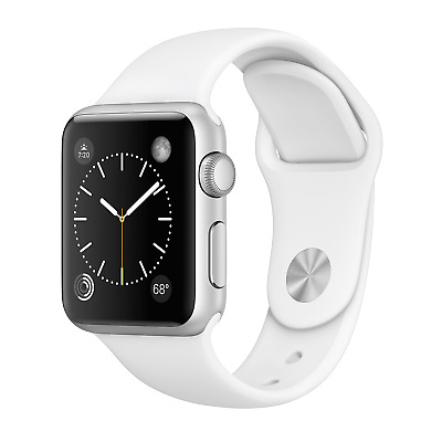 Apple Watch Series 3 42mm Silver Aluminum GPS - White Band