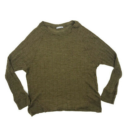 edf4fd51 Zara Collection Sweater L Womens Ribbed Knit Crew Neck Raglan Sleeve  Pullover
