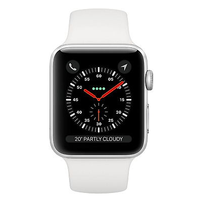 Apple Watch Series 3 38MM Stainless Steel Silver Cellular - White Band