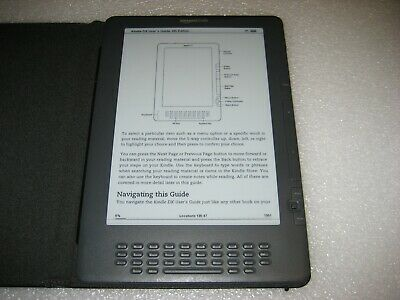 Amazon Kindle DX 4GB, 3G (Global) 9.7in - Black + Leather Cover Bundle, B009 #D3