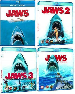JAWS 1-4 Four Movie Blu-Ray Bundle Set BRAND NEW - Free Shipping in USA