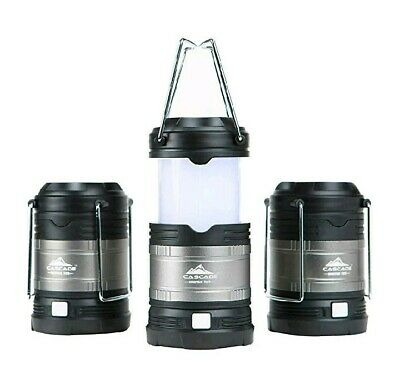 Cascade Mountain Tech Collapsible LED Lantern 3pack 4 Light Modes Indoor Outdoor