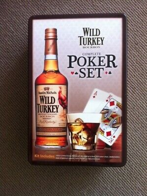 New Poker Set, sealed packs, Wild Turkey, in collector's tin, no bottle