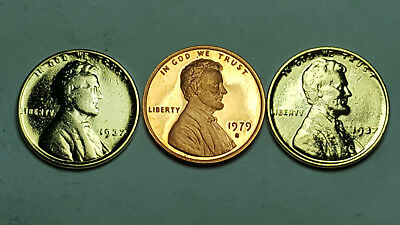 "1979 S Proof Lincoln Cent Type 2 CLEAR /""S/"""