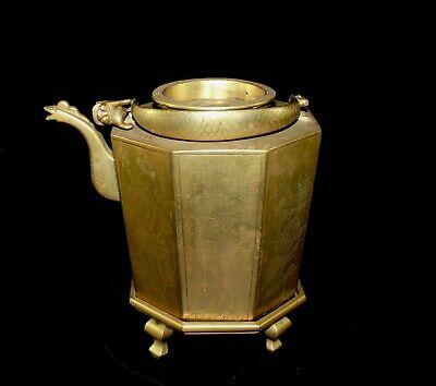 A late Qing or Earlier republic period bronze pot, Chinese tea pot 860B
