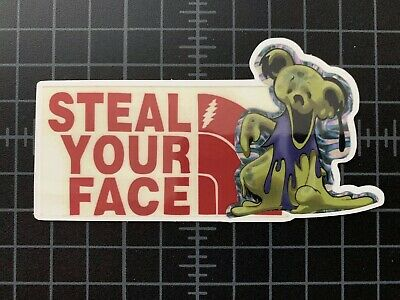 Grateful Dead Jerry Garcia Steal Your Face The North Face Dancing Bear sticker