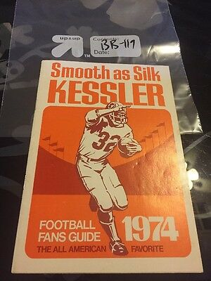 VINTAGE Smooth as Silk Kessler: Football Fans Guide 1974- BB119