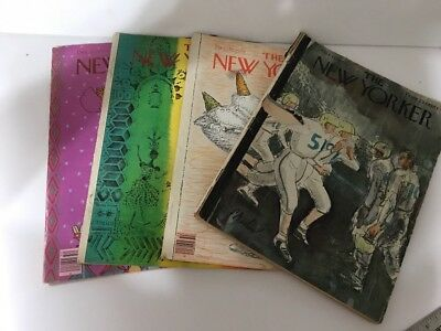 Lot of Four Vintage The New Yorker Magazines 1962 and 1979 55-02