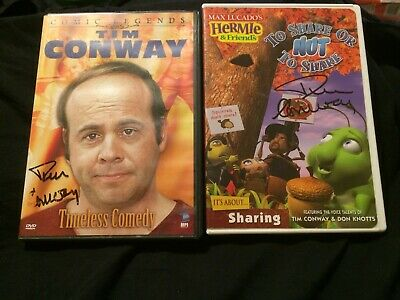 Tim Conway autographd DVD's 2 different