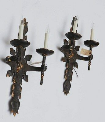Pair Gothic Design Sterling Bronze Co NYC LARGE Prof. Rewired OFFERS WELCOME!!
