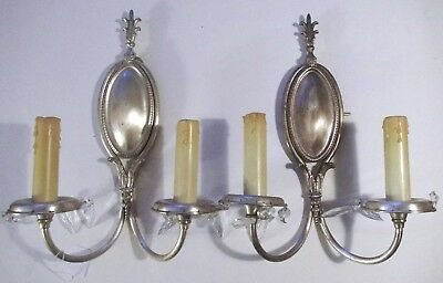 OFFERS!!!  Pair of Two Arm Bronze Antique Sconces. Rewired, Polished & Ready!