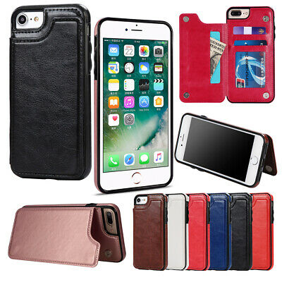 Case For iPhone 7 8 5s Se Plus X XS Max Flip Wallet Leather Cover Magntic Luxury