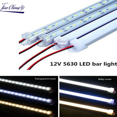 5pcs Rigid LED 50CM 12V 36led SMD 5630 Bar light U Aluminum Shell + PC Cover