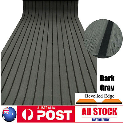 240×90cm Boat Decking EVA Foam Sheet Marine Yacht Teak Flooring Carpet Dark Grey