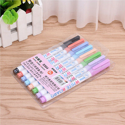 Glass Window Whiteboard Marker Pen Shop Car Decorating 8 Colors Wipeable Tool