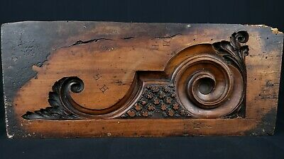 Antique Architectural Furniture Carved Wood Mold Master Carver Signed Hh Federal