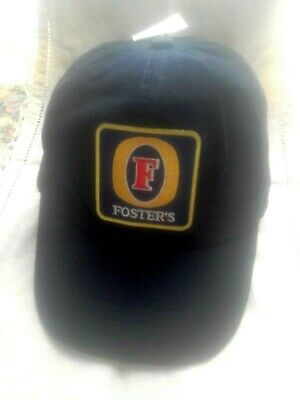 Fosters  Cap New Dark Navy Blue Colour Hat Soft Cotton Material