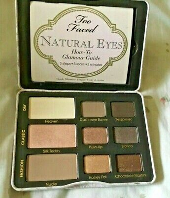 Too Faced NATURAL EYES Neutral Eye Shadow Palette Nude Matte read description
