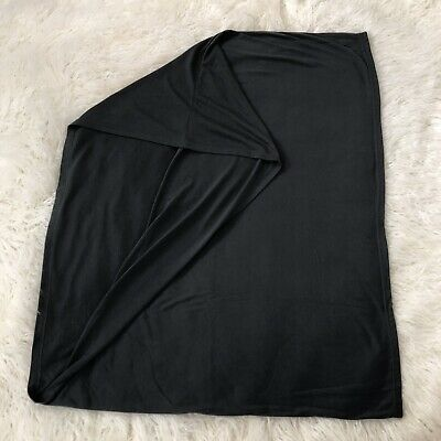 Dark Gray Soft Jersey Blanket Infinity Baby Nursing Breastfeeding Cover 34 x 27