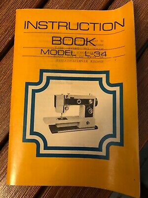 Singer Sewing Machine, model L-34 instruction book owners manual