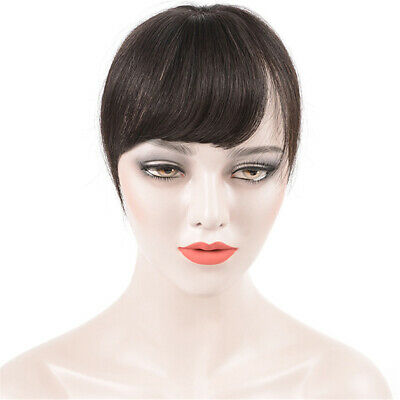 Curly/Straight 100% Remy Human Hair Topper Toupee Hairpiece Top piece with Bangs