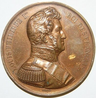 Louis Philippe-King Of France -1836 Medal By Caque