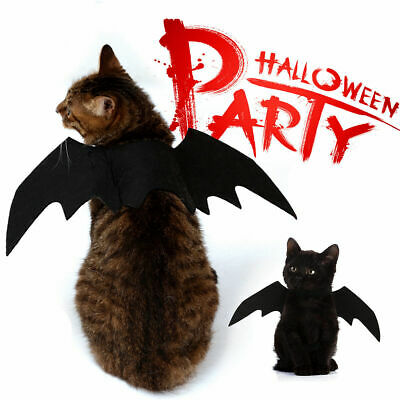 Pet Cosplay Black Bat Wings Dog Cat Funny Clothing Costume Gift Dress Deco Toys