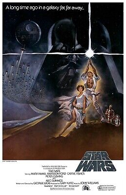 Star Wars: Episode 4 IV - A New Hope Movie Poster (1977) - USA - 11x17 13x19