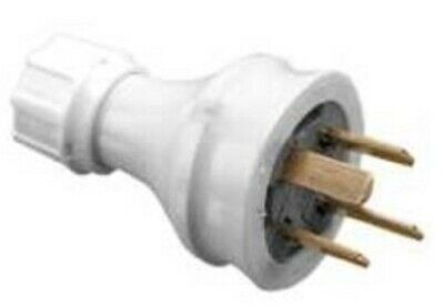 Clipsal PVC PLUG TOP 10A 500V 4-Pin Straight, Suit 1mm² Ordinary Duty Flex WHITE