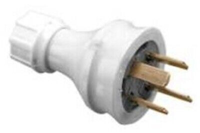 Clipsal PVC PLUG TOP 10A 500V 4-Pin Straight, Unassembled GREY *Australian Brand