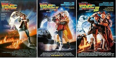 Back to The Future Trilogy Movie Poster Set Part I II III 1 2 3 - 11x17 13x19