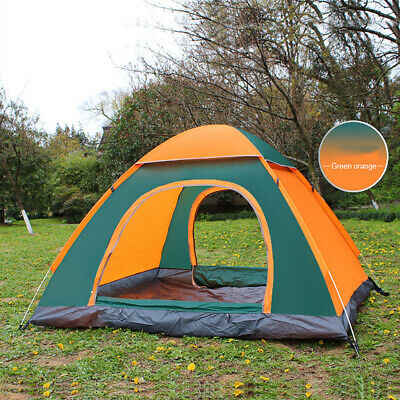 4 Man Persons Automatic Pop Up Tent Outdoor Hiking Waterproof Camping Fishing GL