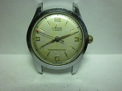 Vintage Swiss Watch Avia Cal.as 1158  For Parts Or Repair