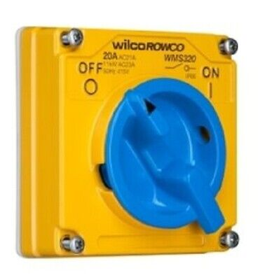 Clipsal CAST ALUMINIUM SWITCH 415V 3-Pole Less Enclosure, Blue- 20A Or 32A