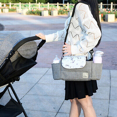Stroller Accessories High Capacity Cart Bag Easy To Carry Prints Half Cover