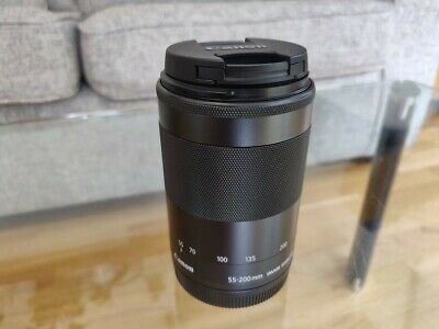 Canon Ef-m 55-200mm F4.5-6.3 Is STM Telephoto Lens for EOS M M2 M3 M50 - Mint