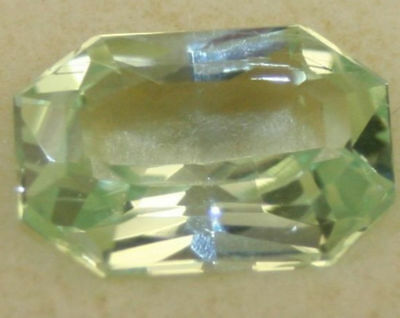 Rare Natural Green Hiddenite Gemstone 9.8X14 Large Faceted Octagon 6.3Ct Ku4