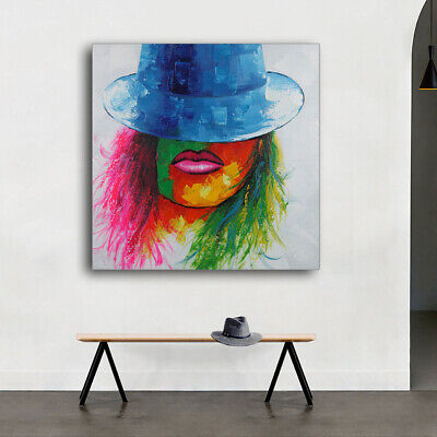 Modern Abstract Hand-painted Oil Painting Home Decor Art Canvas With Frame Woman