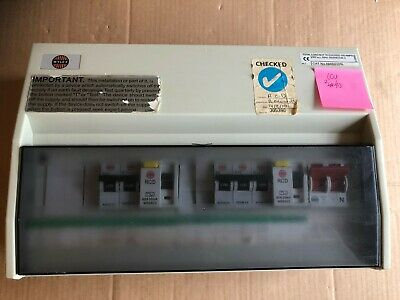 wylex fuse-board fuse-box ccu 10 way main switch, dual rcd &